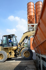 Loader Tractor at work on Cement Silo yard