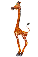 stand up giraffe side view