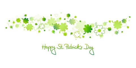 "Green Cloverleafs ""Happy St. Patrick´s Day"""