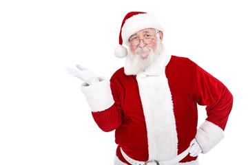 Santa presenting  product