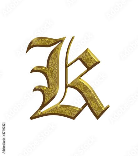 K alphabet en or lettrine photo libre de droits sur la banque d 39 images image - K en majuscule ...