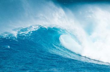 Wall Mural - Blue Ocean Wave