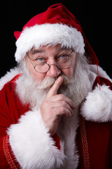 Weihnachtsmann flüstert