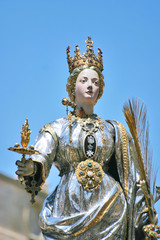 Statua d'argento di Santa Lucia a Siracusa