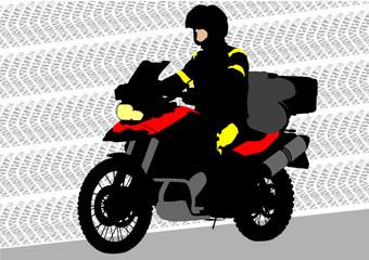 Keuken foto achterwand Motorfiets Motorbike of tourist