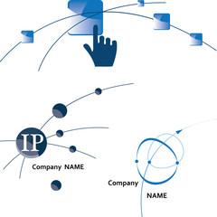 Global communication logo. Icon.