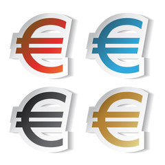 Vector euro stickers