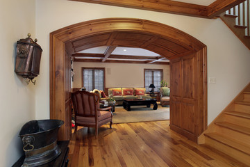 Entry into luxury living room