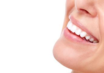 Beautiful woman smile and teeth.