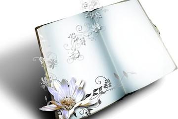 Aufgeschlagenes Buch - Hochzeitskarte, Hochzeitstag
