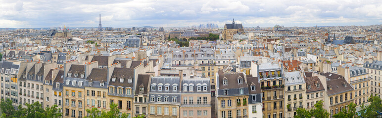 Panorama of of Paris, France with the Eiffel tower Fototapete