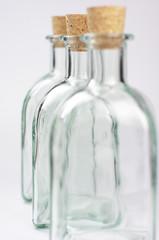Botellas de cristal vacías
