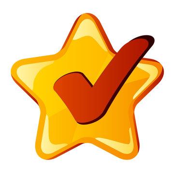 vector yellow checkmark star