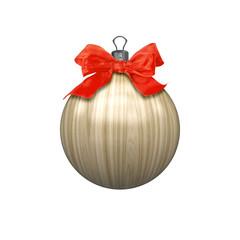 wooden christmas ball