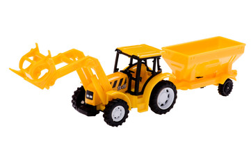 toy excavator close up