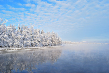 Finland. Imatra reservoir in winter