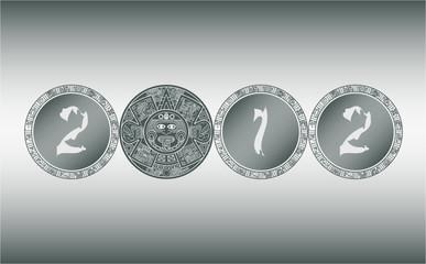 Stylized Aztec Calendar 2012