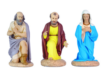 figurines en platre, pour crêche de Noël
