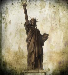 cartolina vintage statua della libertà