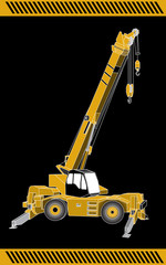 Crane  construction machinery equipment isolated
