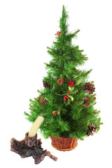 Christmas tree and candle