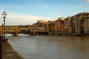 Ponte Vecchio over River Arno in Florence Italy