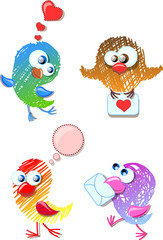 Прекрасные птицы для вашего дизайна