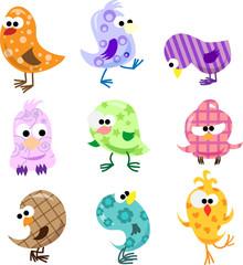 Набор милые птицы