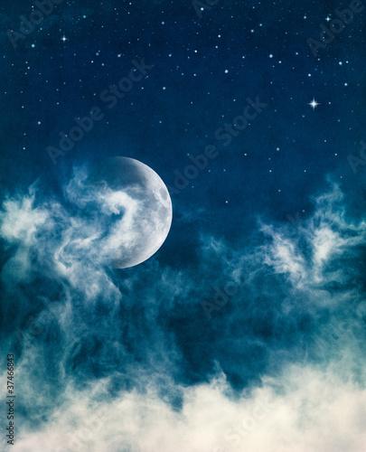 Wall mural Midnight Fog and Moon