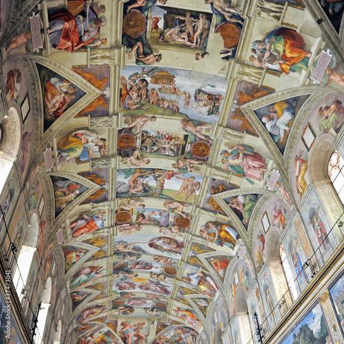 Chapelle sixtine photo libre de droits sur la banque d - Plafond de la chapelle sixtine description ...