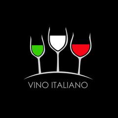 Logo Vino Italiano # Vettoriale