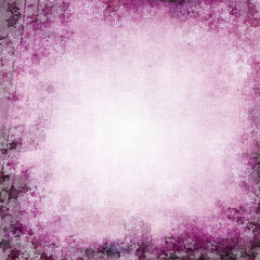 Grunge purple background with place for text in skrapbook style