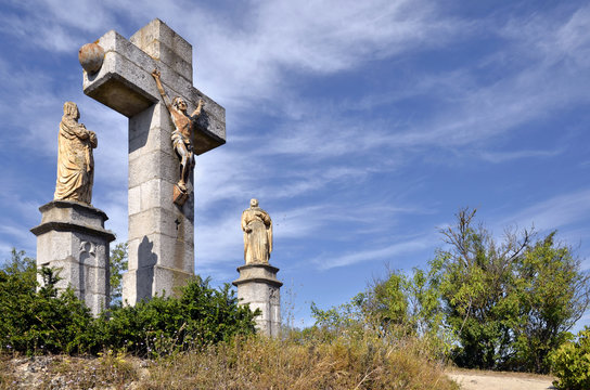 Calvary at Lautrec in France