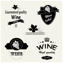 Vector wine labels