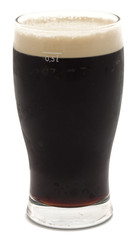 Obraz Pint of stout beer isolated on white - fototapety do salonu