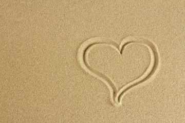 Beach heart.