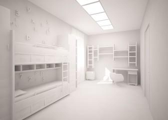grey children room
