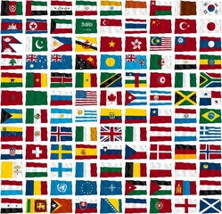 Ülke Bayrakları Dalgalı
