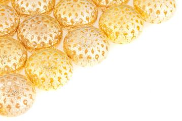 goldish decorations isolated on white background
