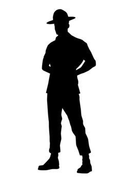 Drill instructor silhouette
