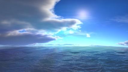 sunny ocean landscape