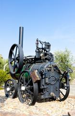 traction engine, Carregueira, Portugal