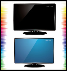 lcd tv, realistic vector illustration