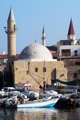 Sinan Basha Mosque in Acer-Akko, Israel