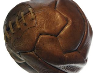 Old vintage leather football