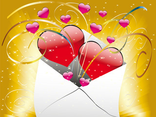 Love letter with a heart