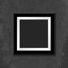 Black photo frame. Vector