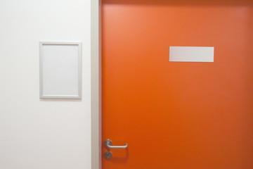 Closed office door