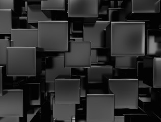 Metal boxes background