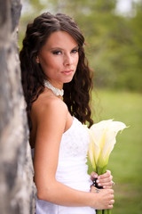 Young Bride with Lilies